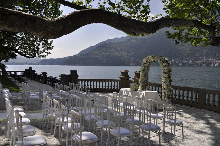 casta diva lake como wedding